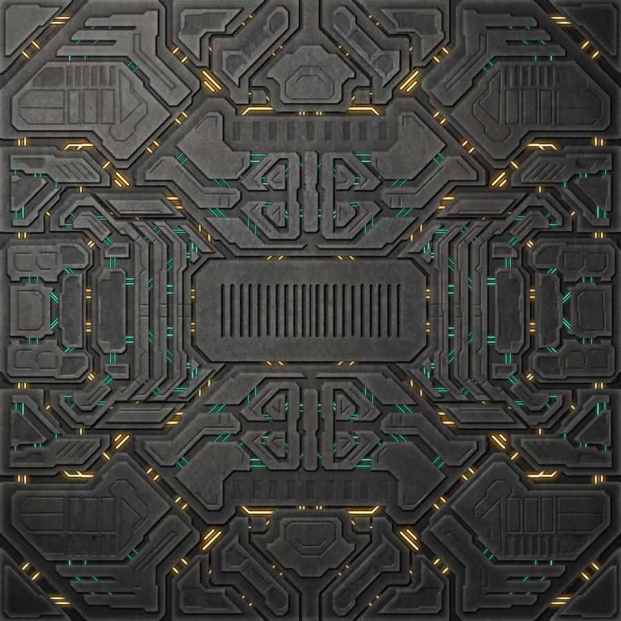 Vintage Science Fiction Wallpaper Google Search: Forerunner Tile By InvaderVeex On DeviantArt