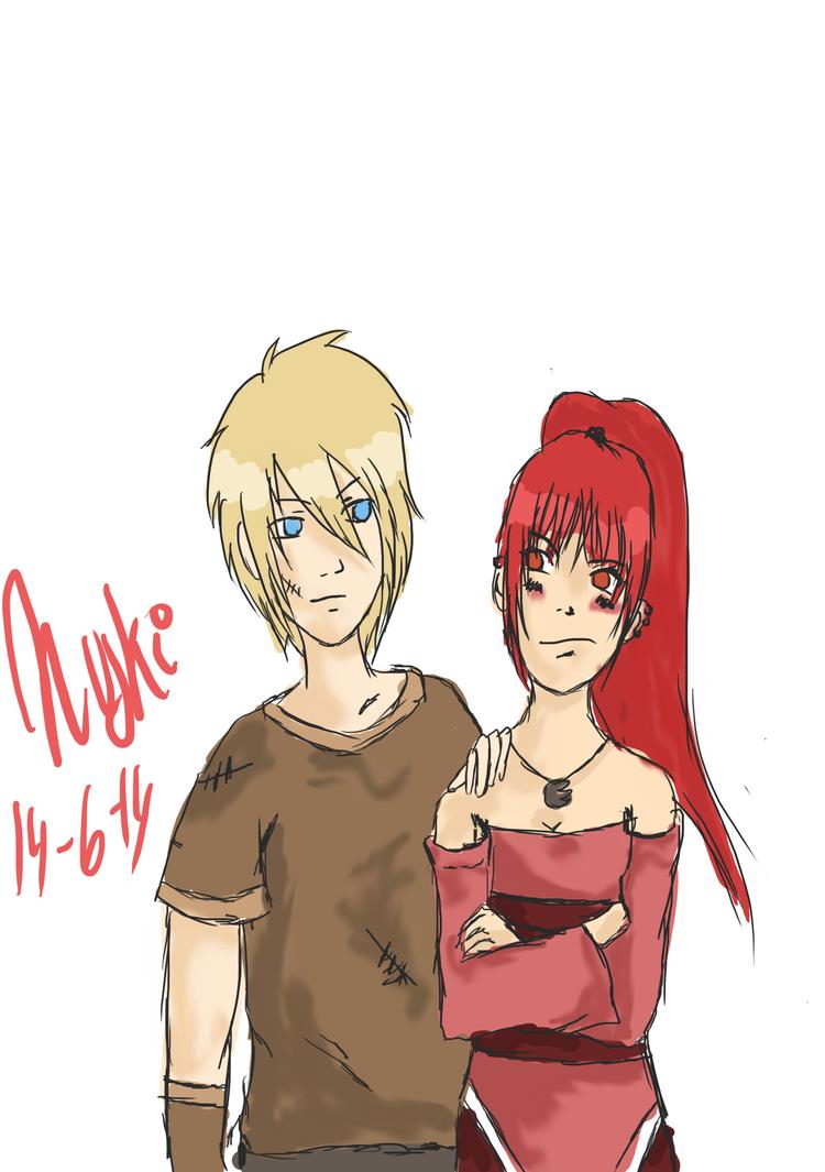 Young Nadia and Gareth by Nuskineta