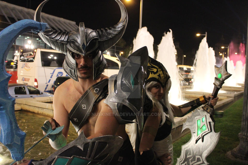 Ashe and Tryndamere Cosplay by Nuskineta