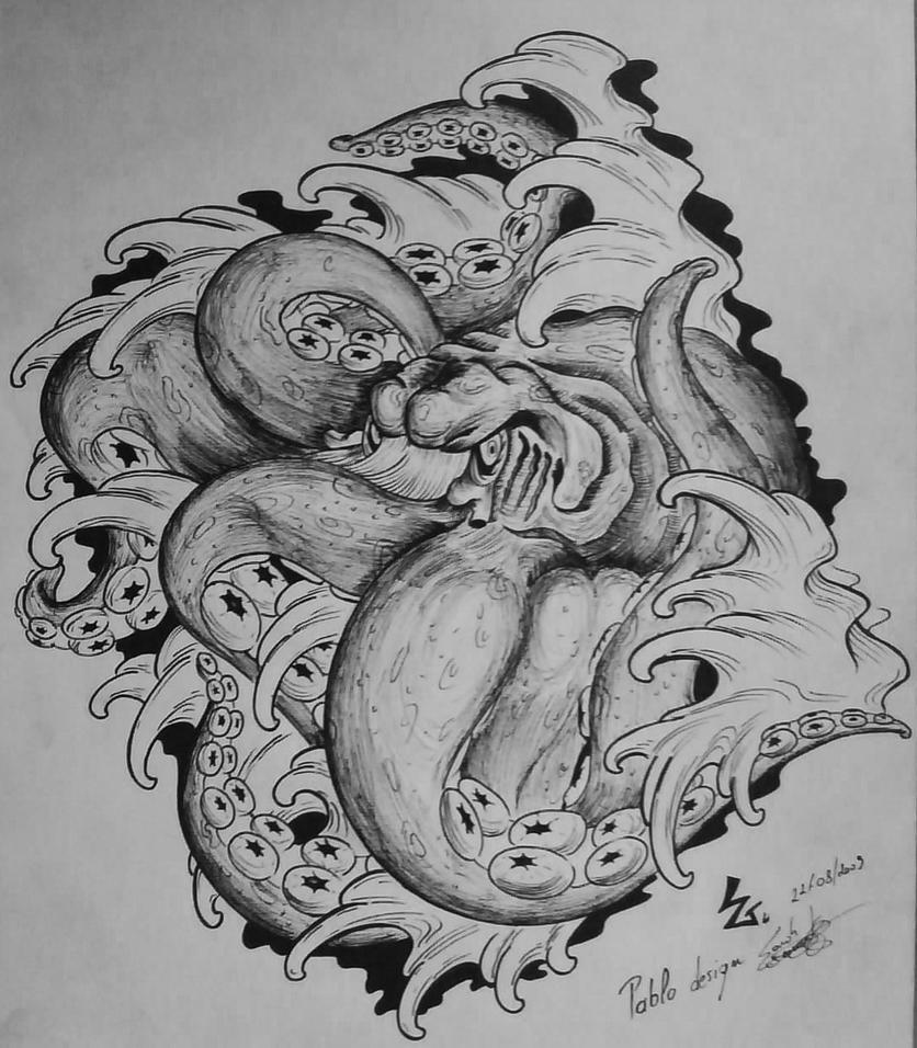 octopus design for a friend by sandergeeraert on deviantart. Black Bedroom Furniture Sets. Home Design Ideas