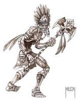 Zombie Warrior by JWilsonIllustration