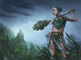 Jungle Warrior by JWilsonIllustration
