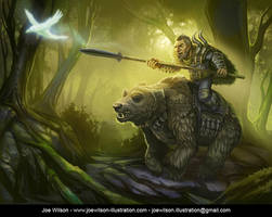 The Bear Rider by JWilsonIllustration