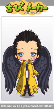 chibi cas with wings