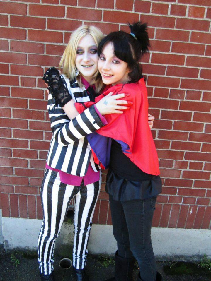 beetlejuice and lydia cosplay 4 by slaughterose
