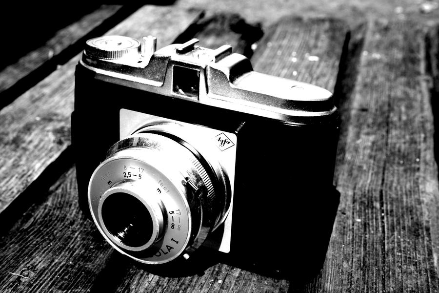 old camera in black and white by elizabethtown60b on