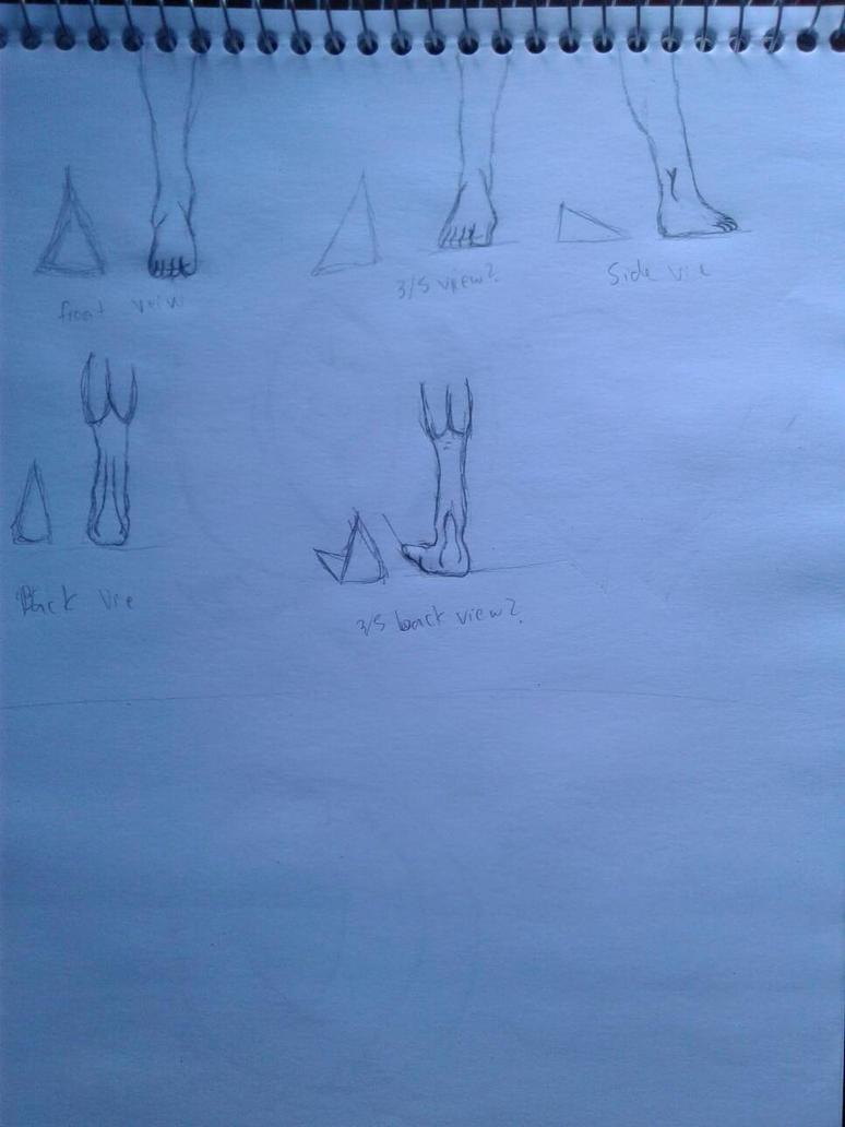 Foot Anatomy Practice #1 by Wierdofromspavetm
