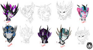 Headshot adoptables (Choose your own colours)