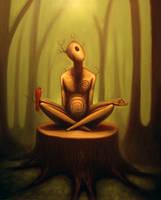 'Forest Thinking' WIP 2 by jslattum