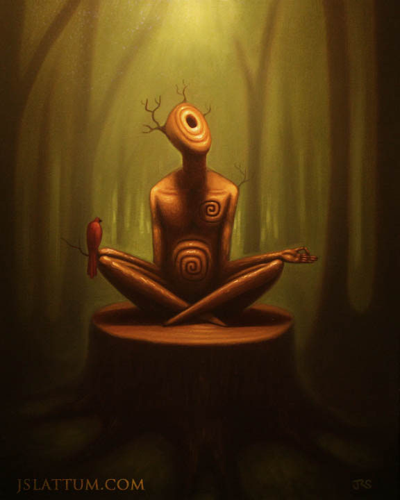 Meditation from an awesome artist on http://fc06.deviantart.net/fs70/f/2011/278/b/c/__forest_thinking___by_jslattum-d4bwih5.jpg