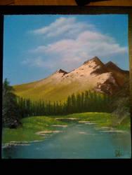Lake seeing mountain by suzikinz