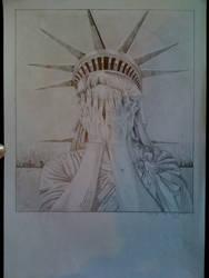 Crying Statue of Libery by suzikinz