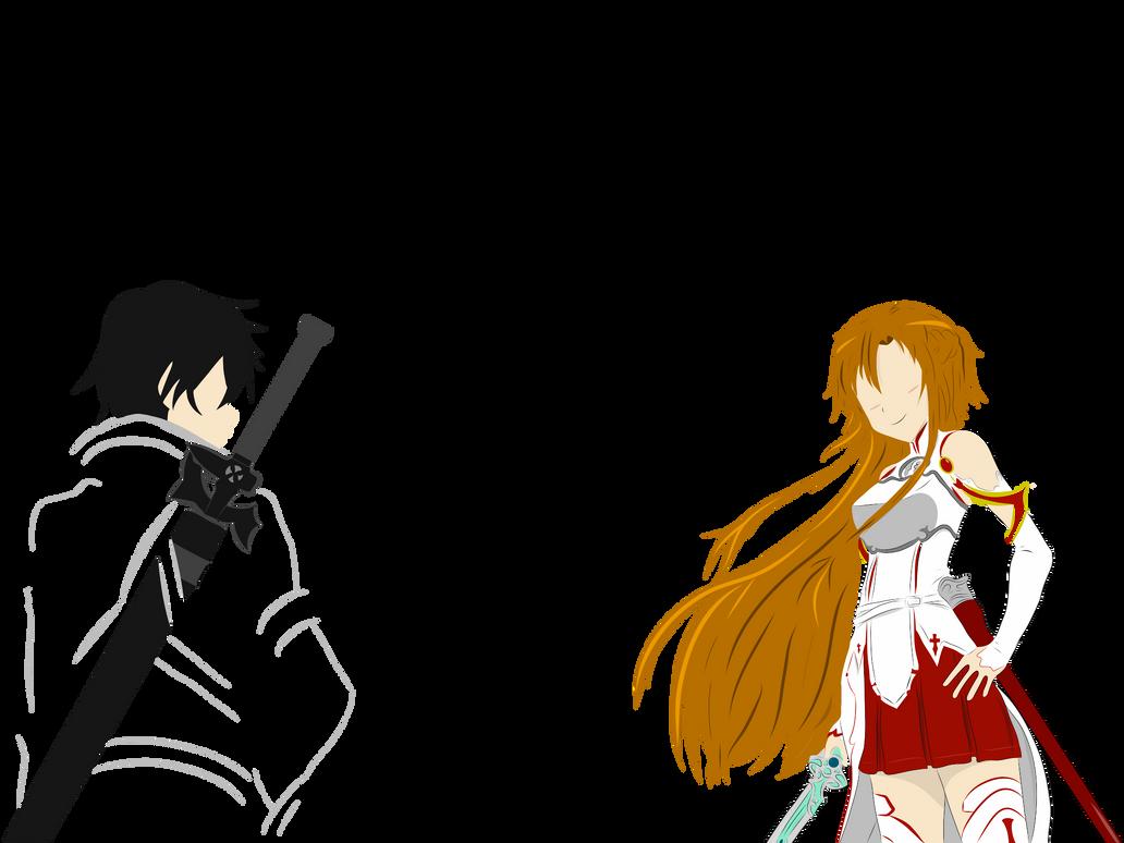 Kirito asuna sword art online by rori san on deviantart for Minimal art online