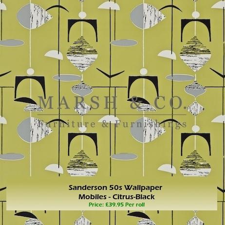 Sanderson 50s Wallpaper   Mobiles   Citrus Black By Marshandcoltd ...