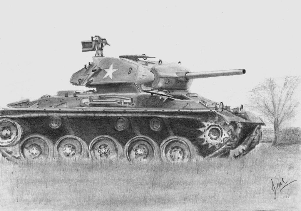 M24 Chaffee by p40kittyhawk