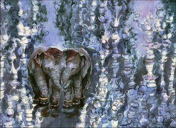 when elephants fall in love by barbarasobczynska