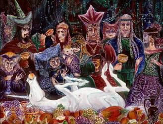 the supper of the last unicorn by barbarasobczynska