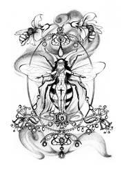 Austeja, the Bee Goddess by barbarasobczynska