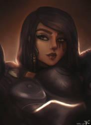 Pharah (Overwatch) by hobo-cat
