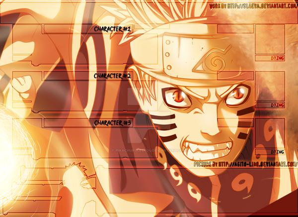 Battle Screen N-A [Naruto Bijuu Mode] n.1 by pikachurulesyou