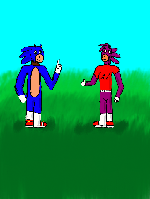 Sonic and Kuran by Keyotea