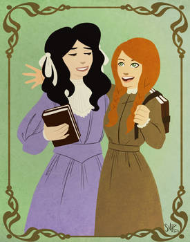 Anne Shirley and Diana Barry