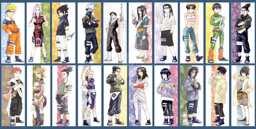 naruto bookmarks by endoftheline