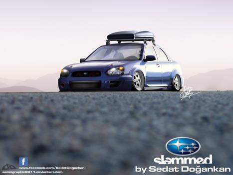Slammed Subaru WRX STI
