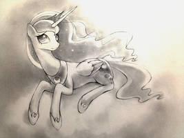 Princess Luna sketch 5 by murphylaw4me