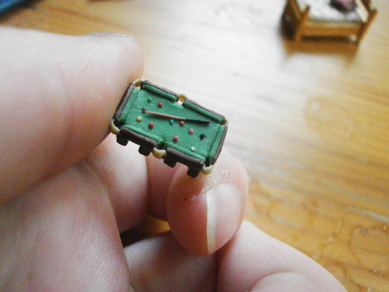 Tiny Snooker Table By MomsAwesomeCreations ...