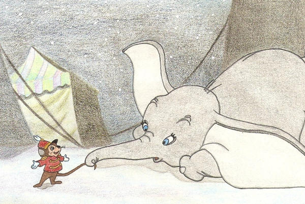 DUMBO AND TIMOTHY by FERNL