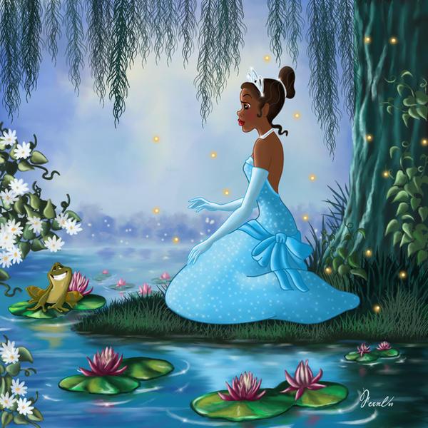 Princess Tiana Art: TIANA AND THE FROG By FERNL On DeviantArt