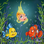 CLEO, FLOUNDER AND NEMO