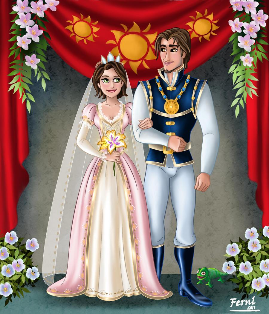 Tangled rapunzel wedding