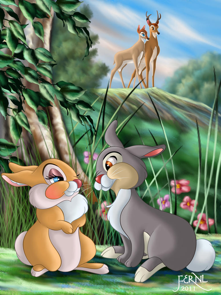 thumper and miss bunny wallpaper - photo #29