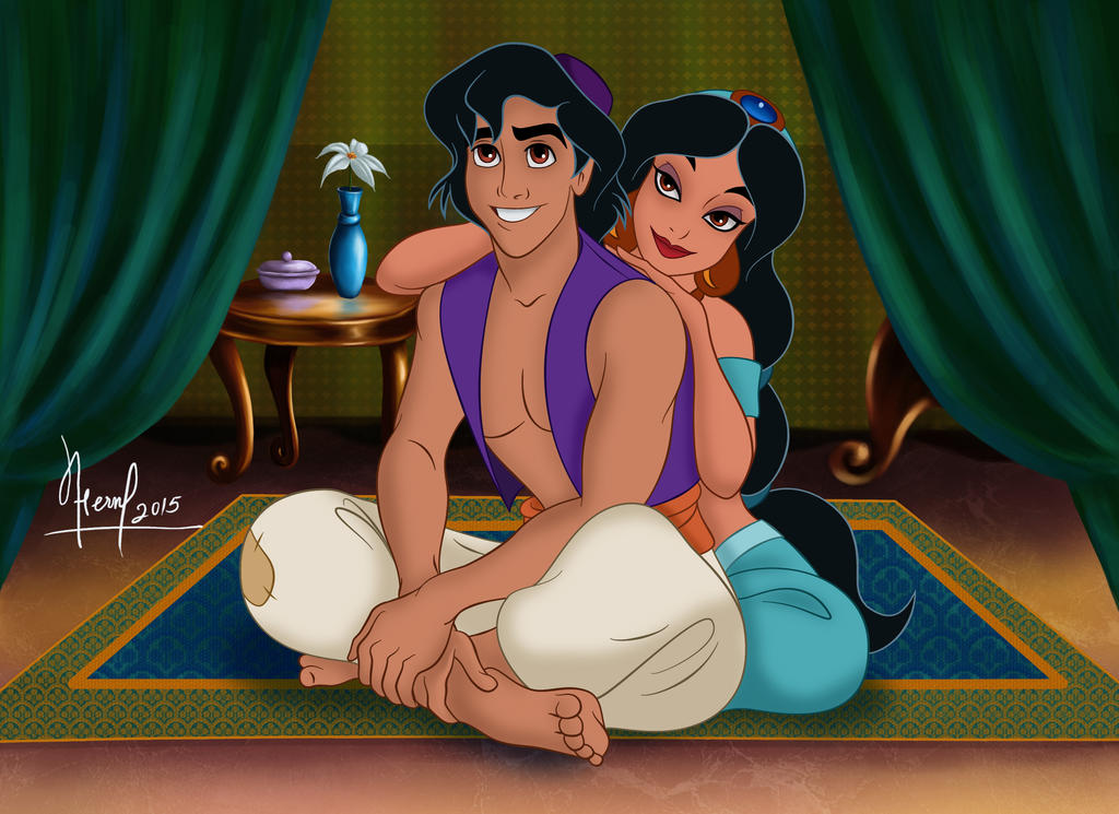 aladdin and jasmine by fernl on deviantart. Black Bedroom Furniture Sets. Home Design Ideas