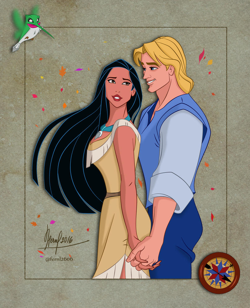 POCAHONTAS AND JOHN by FERNL