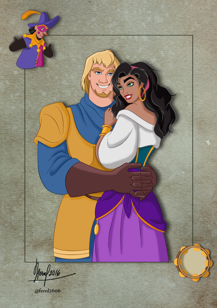 ESMERALDA AND PHOEBUS by FERNL