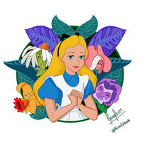 ALICE AND THE FLOWERS by FERNL