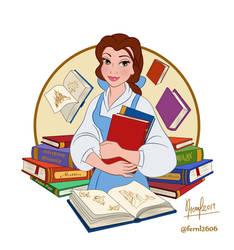 BELLE WITH BOOKS
