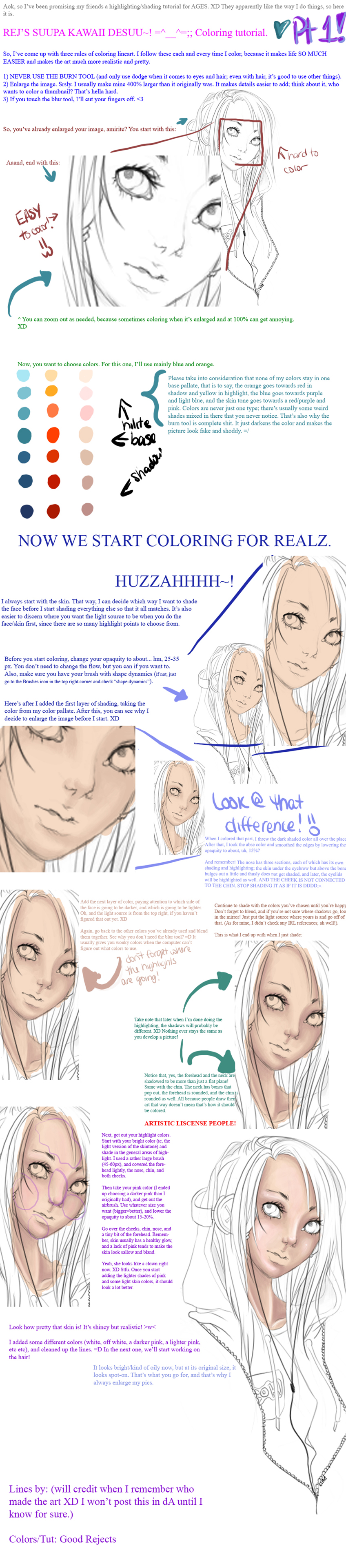 Coloring Tutorial Part 1: Skin by GoodRejects