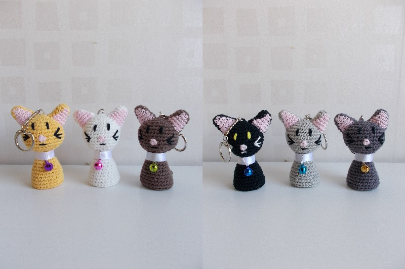 Tutorials Crochet cat toy keychain pattern Kids' Crafts amigurumi ... | 533x800