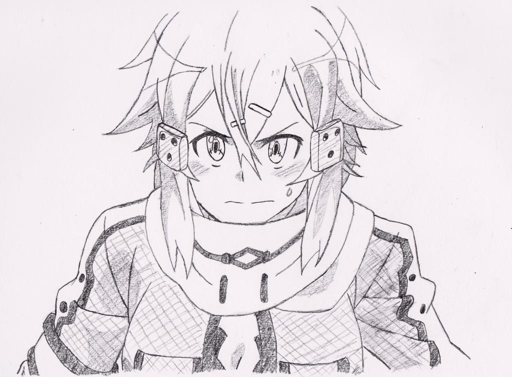 Sword art online ii sinon sketch by luffyrockslol on for Sketch it online