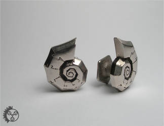 Polished Jigsaw Cufflinks - 1