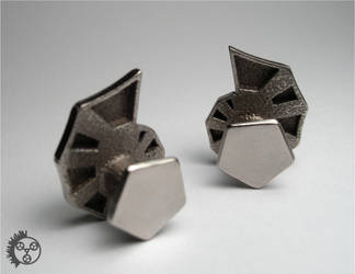 Polished Jigsaw Cufflinks - 2