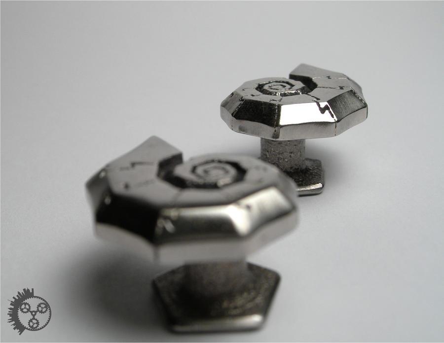 Polished Jigsaw Cufflinks - 3