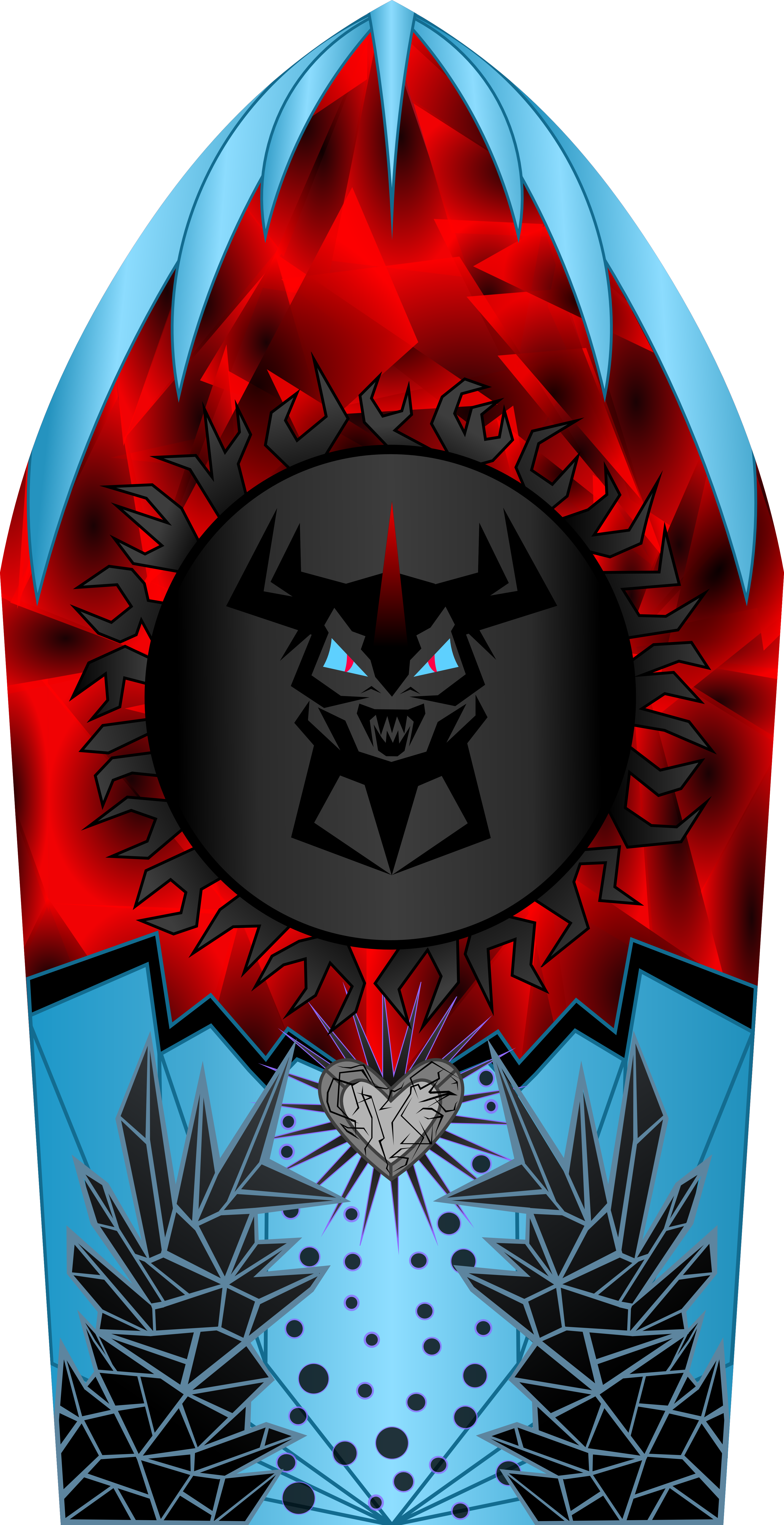 Stained Glass: King Sombra corrupted crystal heart by Legat-BF
