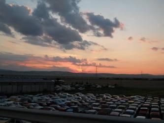 Sunset on Buzau-Ploiesti Road by MariuszMz