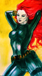 Black Widow, red hot amirite? o_o by Komalash