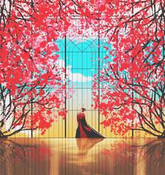 Cherry Blossom Palace by Komalash